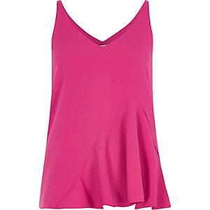 Pinkes Camisole mit Rüschen