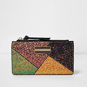 Gold glitter cutabout purse