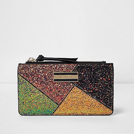 Gold glitter cutabout purse