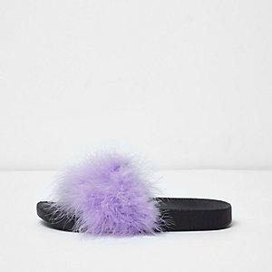 Purple fluffy sliders