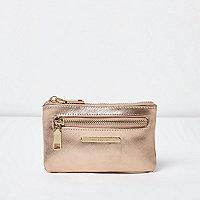 Mini porte-monnaie or rose métallisé