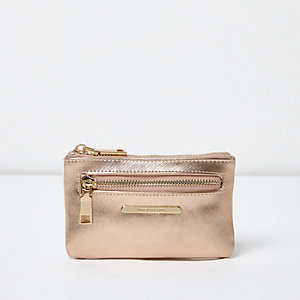 Rose gold metallic mini purse