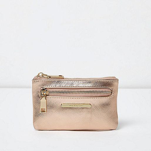 Rose gold metallic mini purse
