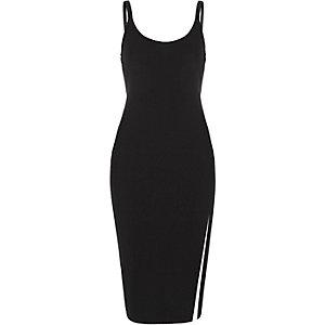 Schwarzes Bodycon-Kleid mit Trägern