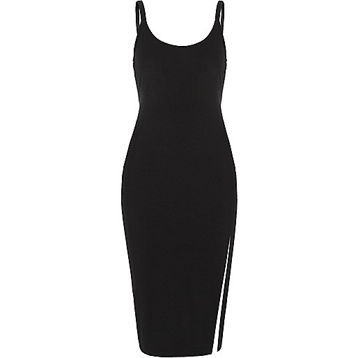Black hardware cami bodycon dress