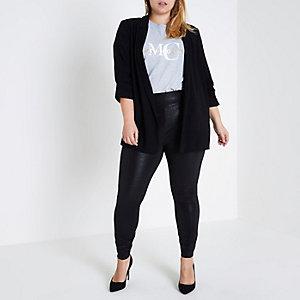 RI Plus - Zwarte gecoate legging met structuur