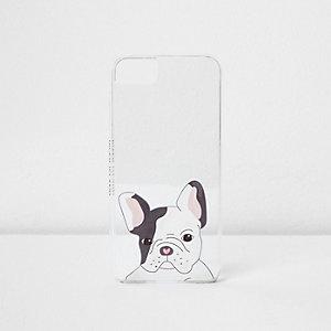 Witte telefoonhoes met leuke hondenprint