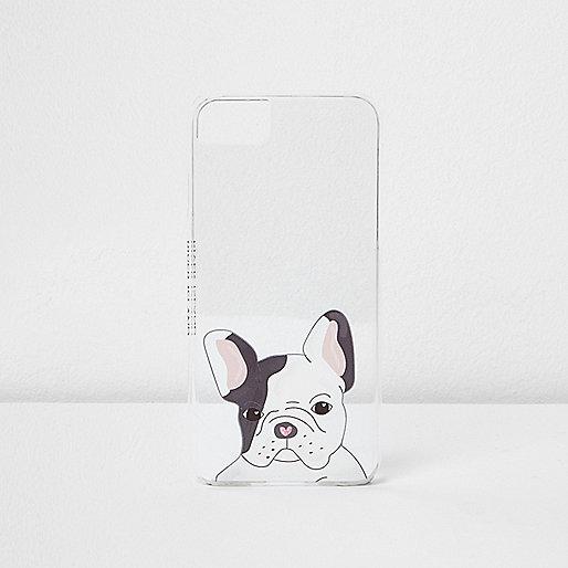 White cute dog phone case