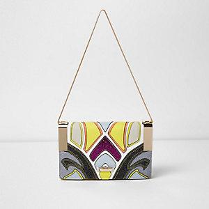 Gelbe, glitzernde Handtasche
