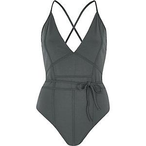 Dark blue inverted seam bodysuit