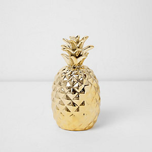 Ornement doré motif ananas