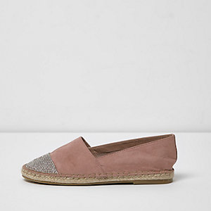 Black Espadrilles Shoe Womens River Island