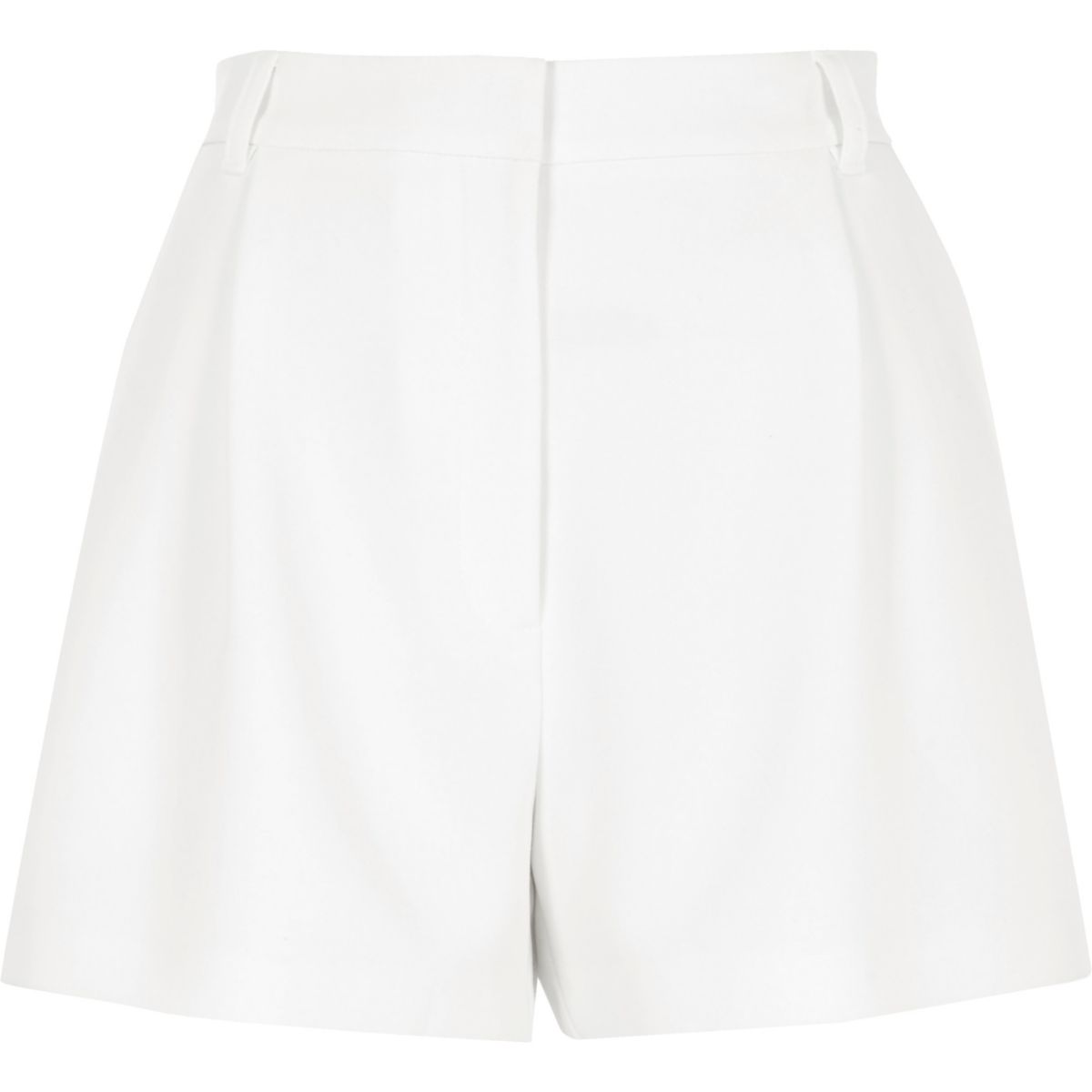 White high waisted smart shorts