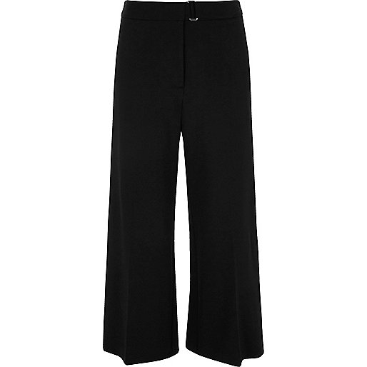Black smart culottes