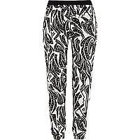 Zwart-witte joggingbroek