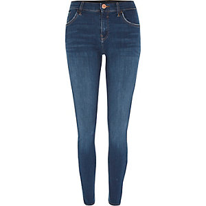 Amelie - Middenblauwe superskinny denim jeans