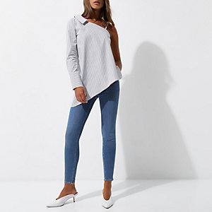 Molly - Middenblauwe skinny jegging