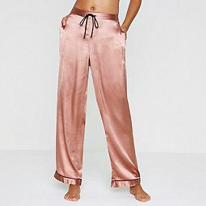Bas de pyjama en satin rose