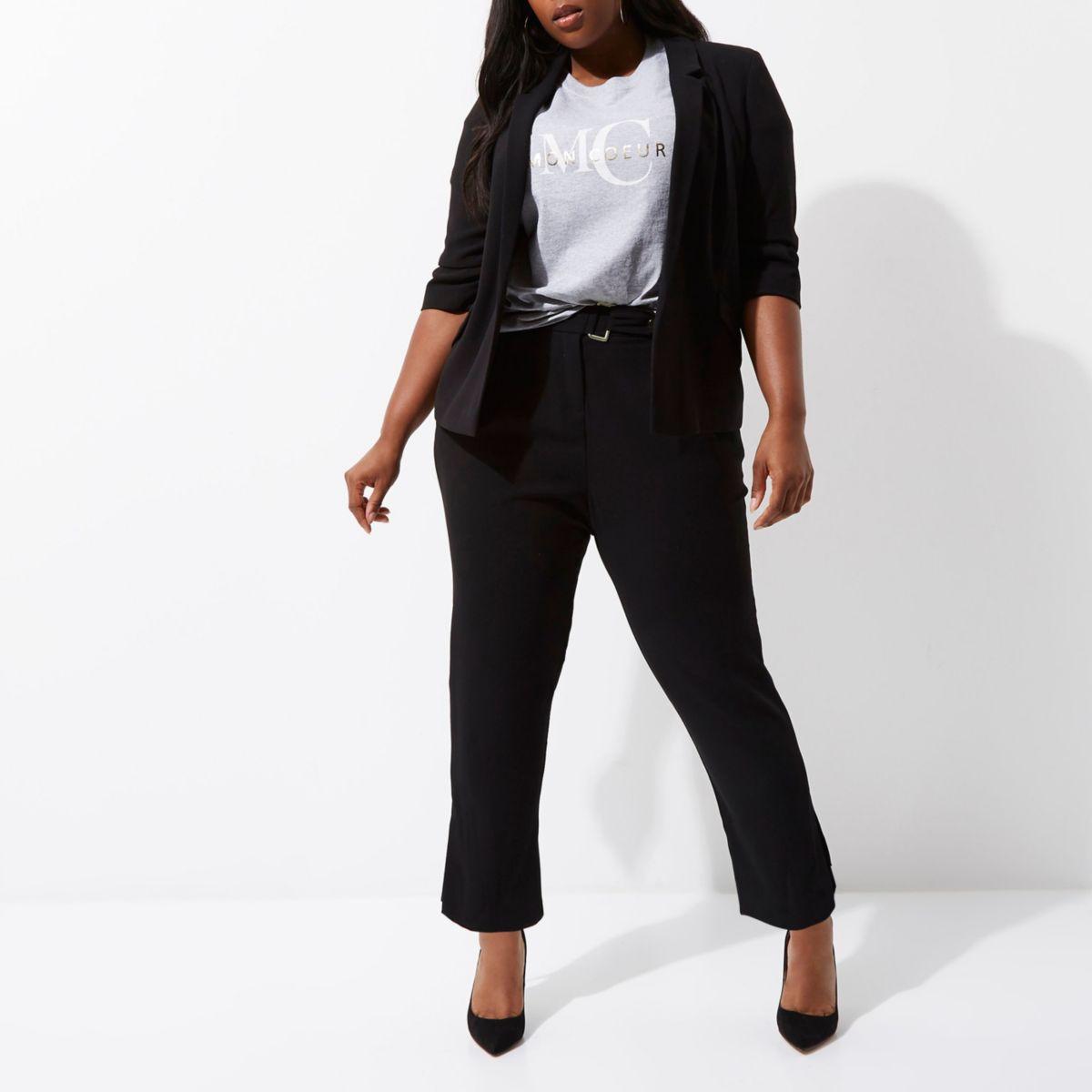 Plus black tapered pants