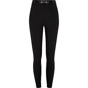 Zwarte skinny broek met hoge taille
