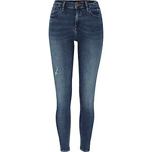 Amelie – Jean super skinny bleu moyen usé
