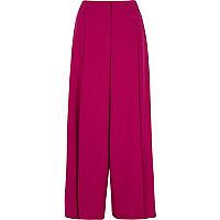 Petite – Pantalon large rose