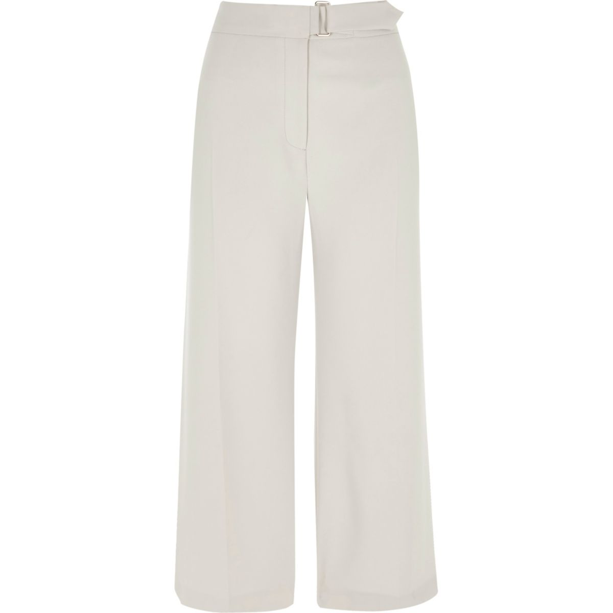 Cream belted culottes