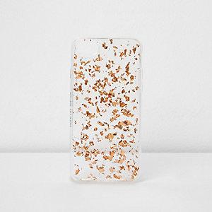 Goudkleurige grove glinsterende telefoonhoes