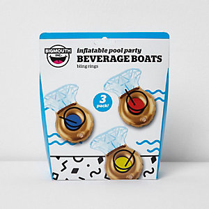 Inflatable ring beverage floats