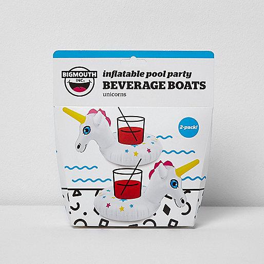 Inflatable unicorn beverage floats