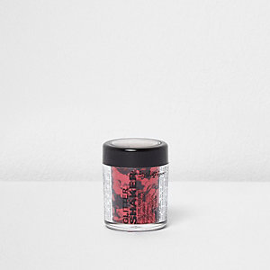 Red chunky glitter shaker pot
