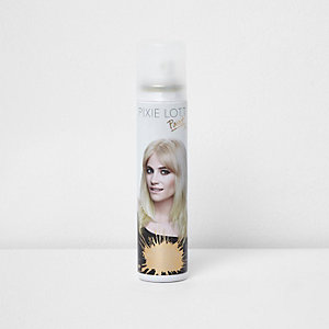 Pixie Lott gold glitter paint hairspray