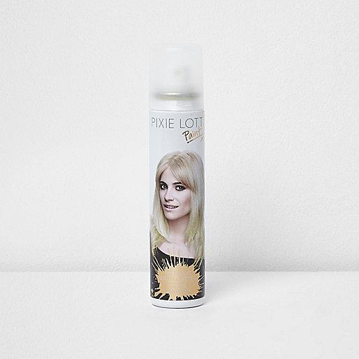 Pixie Lott gold glitter paint hairspray