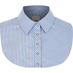 Plastron de chemise rayé bleu