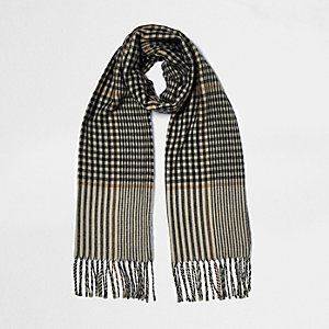 Brown check scarf