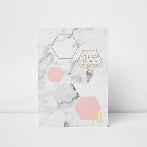Grijs A5 notitieboekje met marmerprint