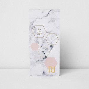 Bloc-note magnétique To do list imprimé marbre gris