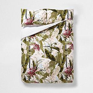 Pinkes Kopfkissenset mit tropischem Print