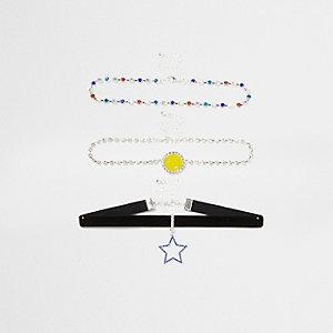 Ensemble tour de cou orné de « smiley » et d'étoiles multicolores