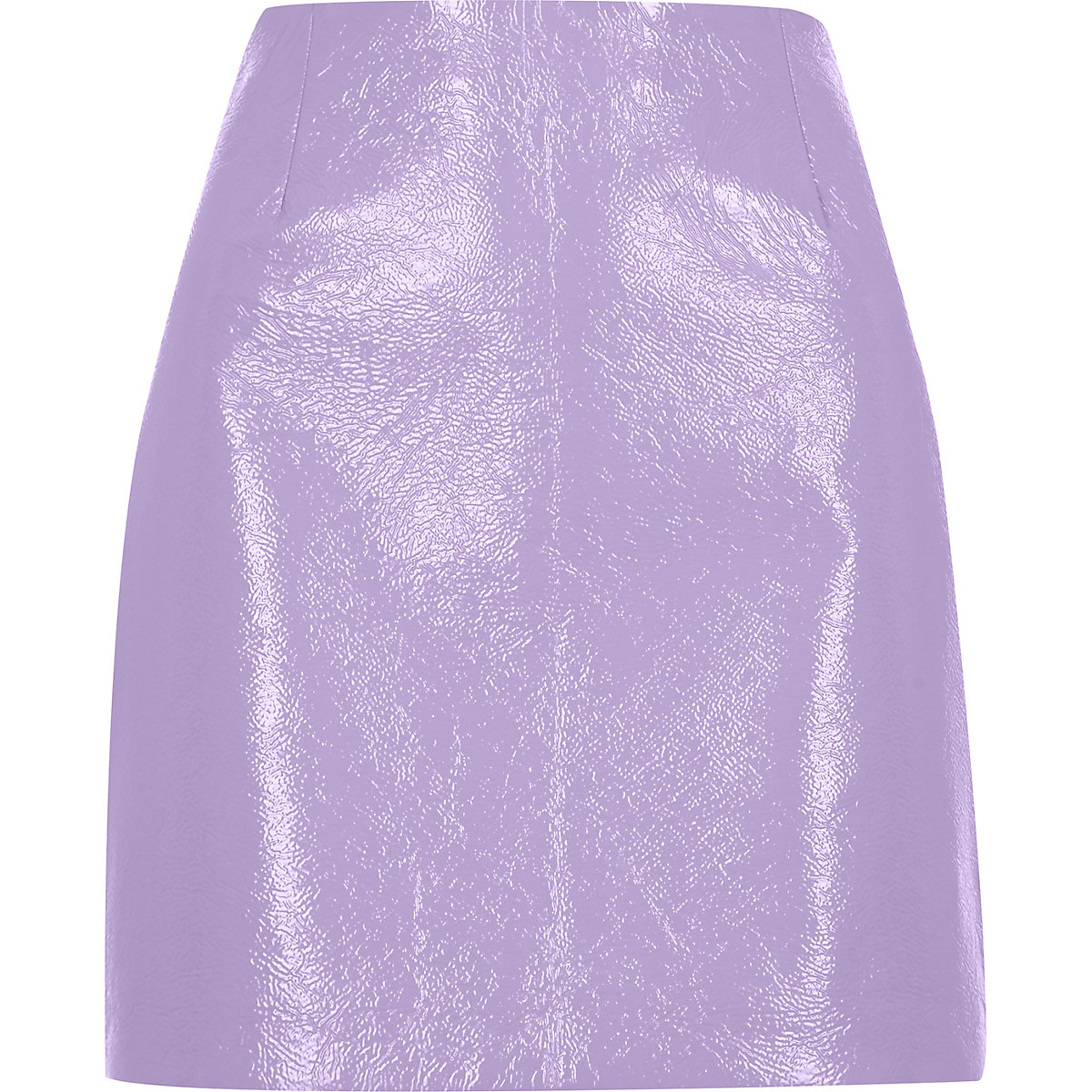 Purple patent mini skirt