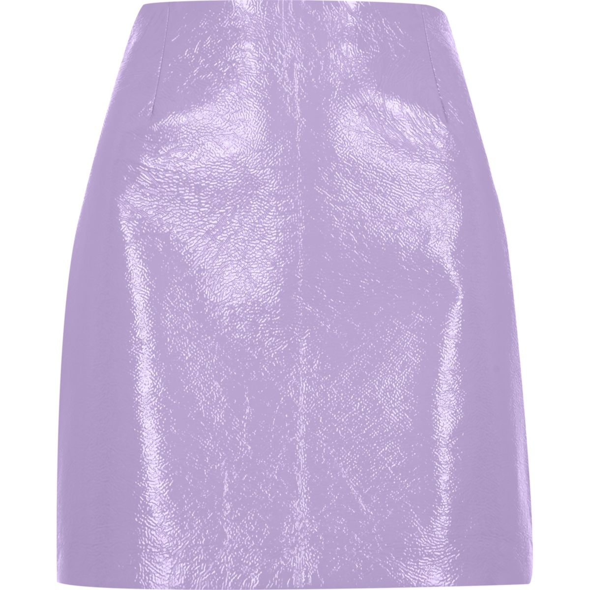 Purple patent mini skirt
