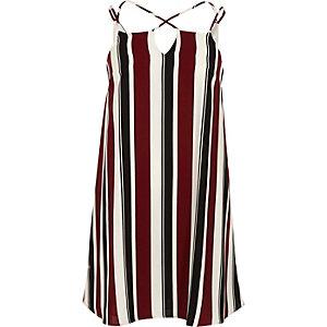 Rotes, gestreiftes Kleid