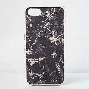 Schwarze, marmorierte Handyhülle