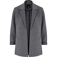 Dark grey lurex jersey blazer