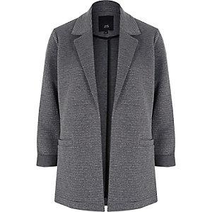 Blazer en jersey et lurex gris foncé