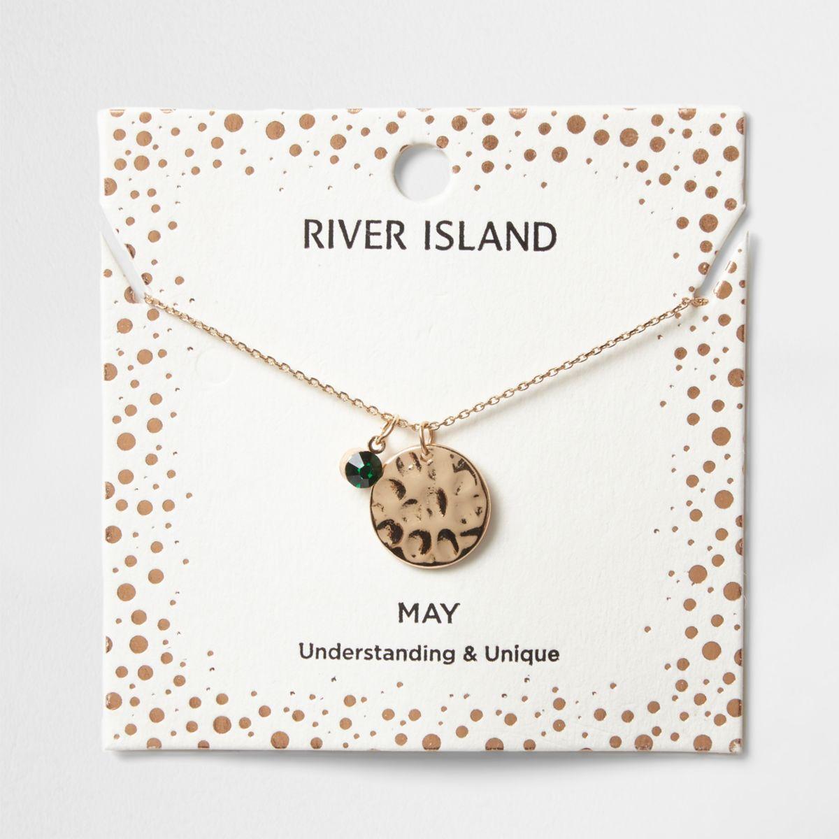 Green gem May birthstone necklace
