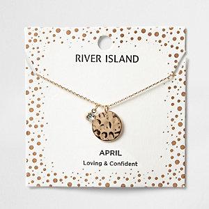 Silver gem April birthstone necklace