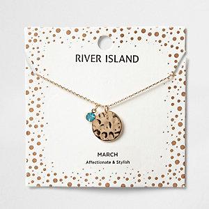 Halskette mit dem Geburtsstein des Monats April