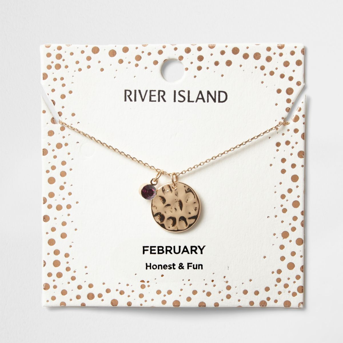 Purple gem February birthstone necklace