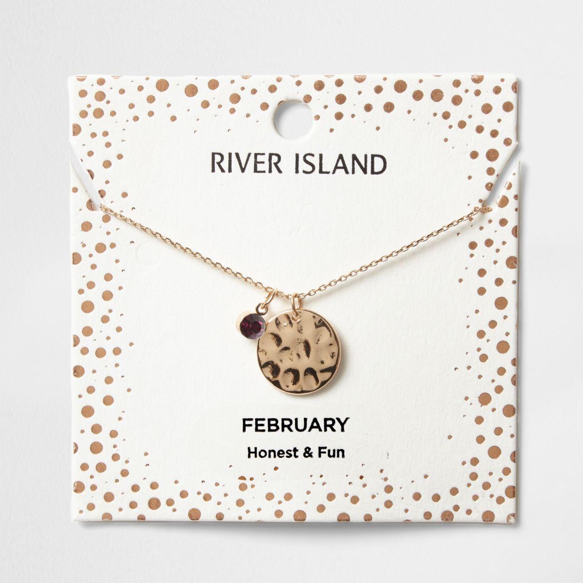 Halskette mit dem Geburtsstein des Monats Februar